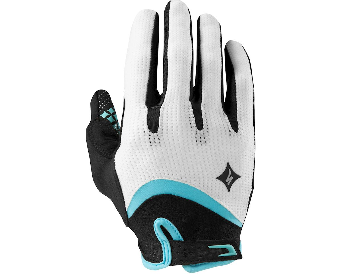 Specialized Women's Body Geometry Gel Long Finger (White/Lt Teal) (2XL)