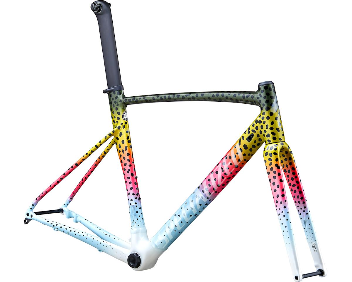 Specialized 2020 Allez Sprint Disc Frameset (Gloss Deep Moss/Pink/Micro Pearl White) (56)
