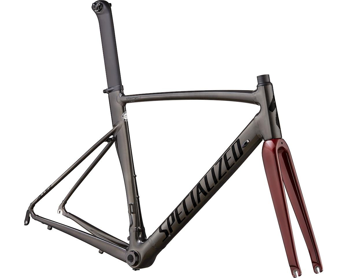 Specialized 2020 Allez Sprint Frameset (Polished Chrome Black/Black/Crimson Metallic) (54)