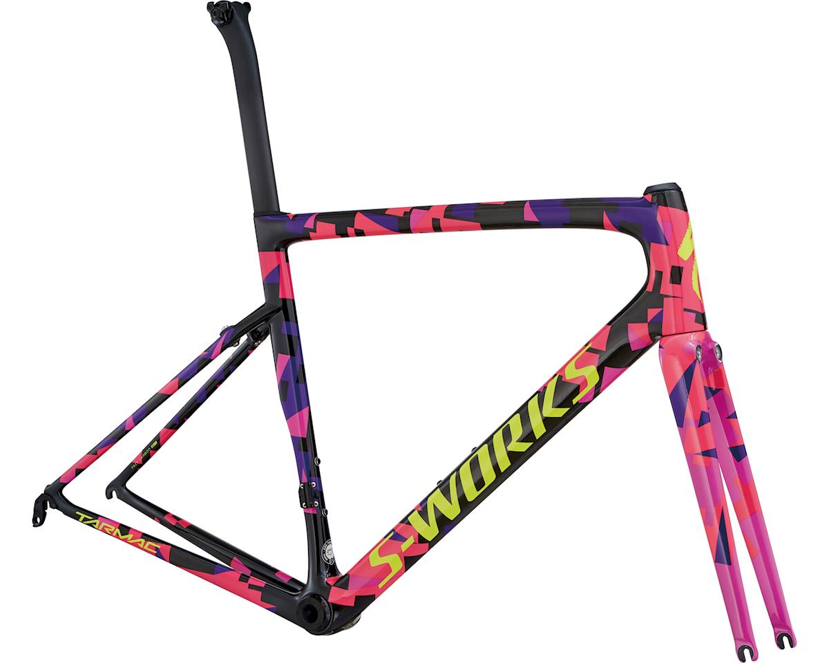 Specialized 2018 Men's S-Works Tarmac Frameset (Carbon/Purple Haze/Acid Pink/Gloss Rkt Red/Yellow)