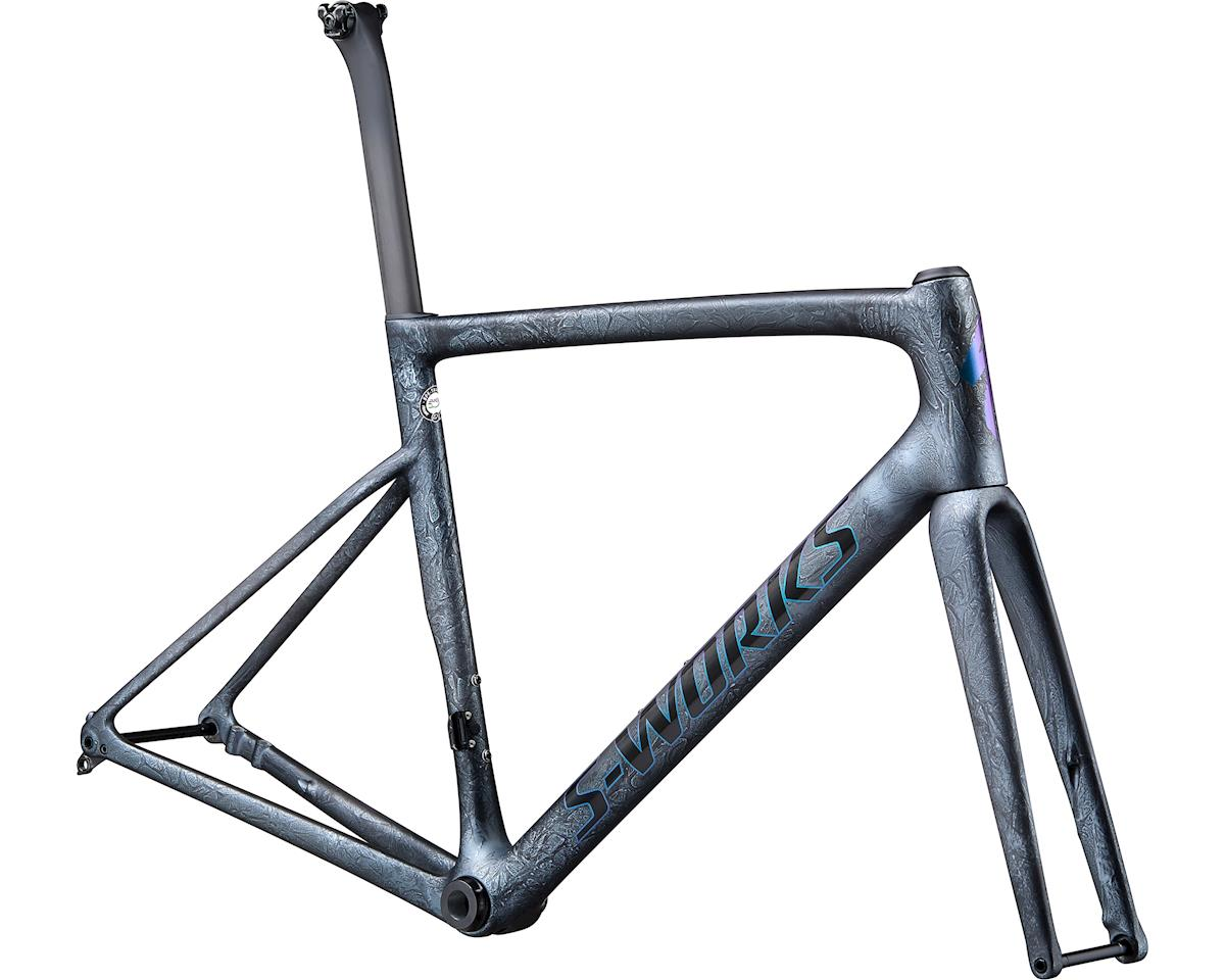 Specialized 2020 S-Works Tarmac Disc Frameset (Satin Granite/Blue Green Foil)