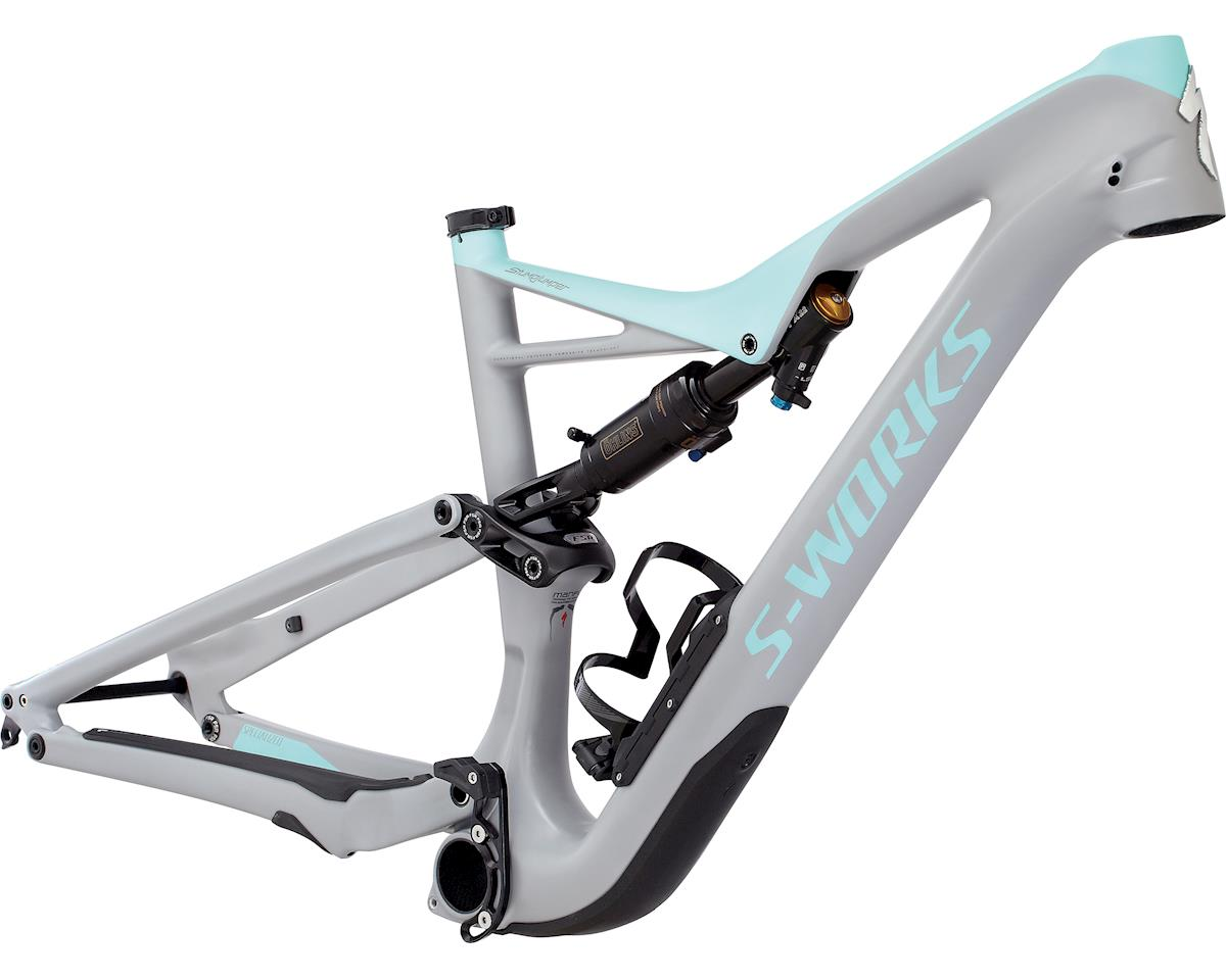 5cce0c1d56c Specialized 2017 S-Works Stumpjumper FSR 650b Frame (COOL GREY/LIGHT  TURQUOISE)