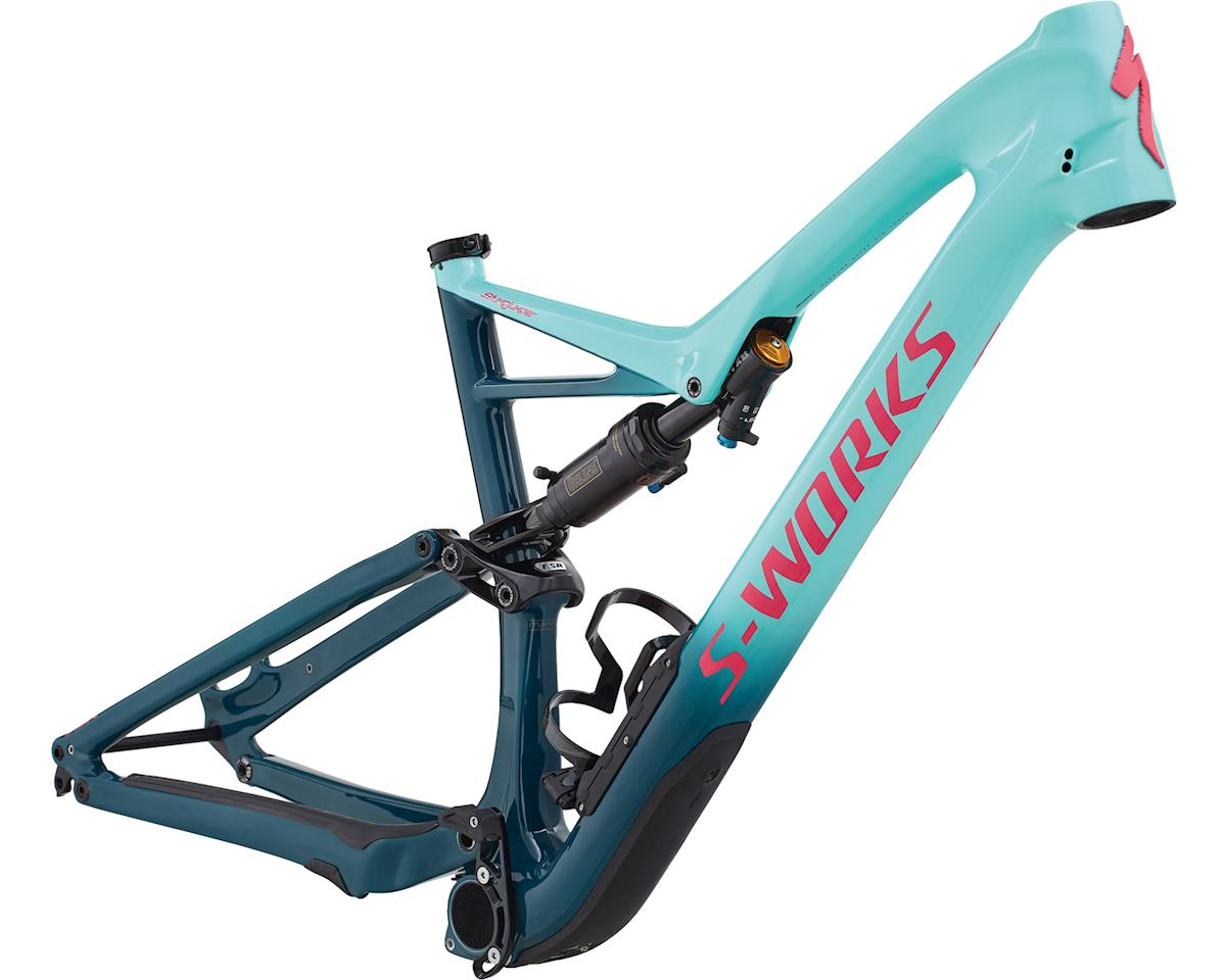 Specialized 2018 S-Works Stumpjumper Carbon 29/6Fattie Frame (HERITAGE GLOSS LIGHT TURQUOISE / TROPICAL TEAL / ACID PINK