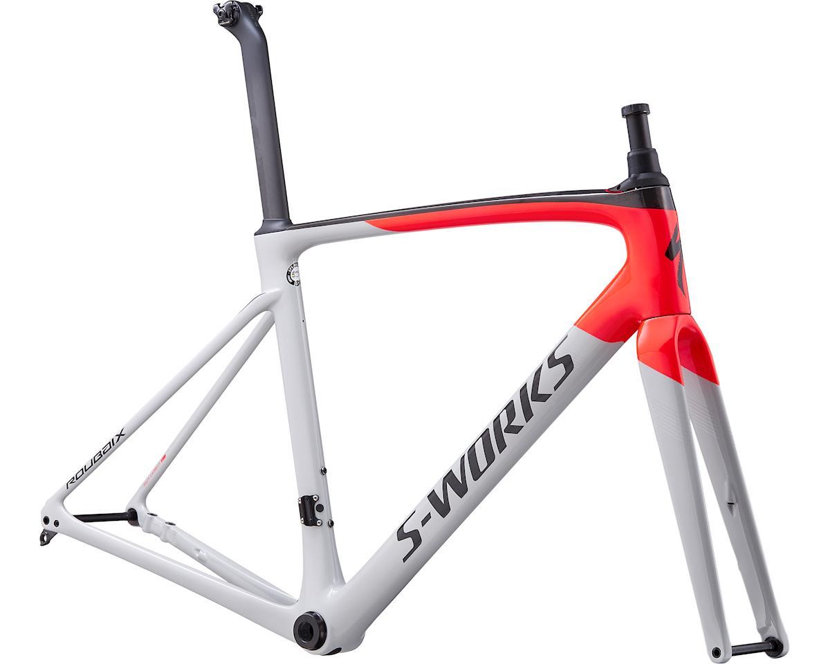 Specialized 2020 S-Works Roubaix Frameset (Gloss/Satin - Dove Gray/Rocket Red/Back)