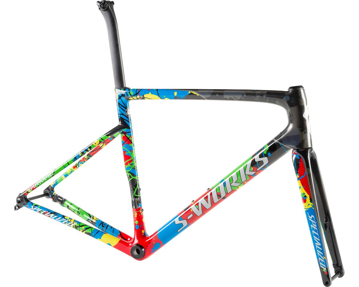 Specialized 2019 S-Works Tarmac Disc Frameset WC (Gloss Carbon/Flo Red/White)