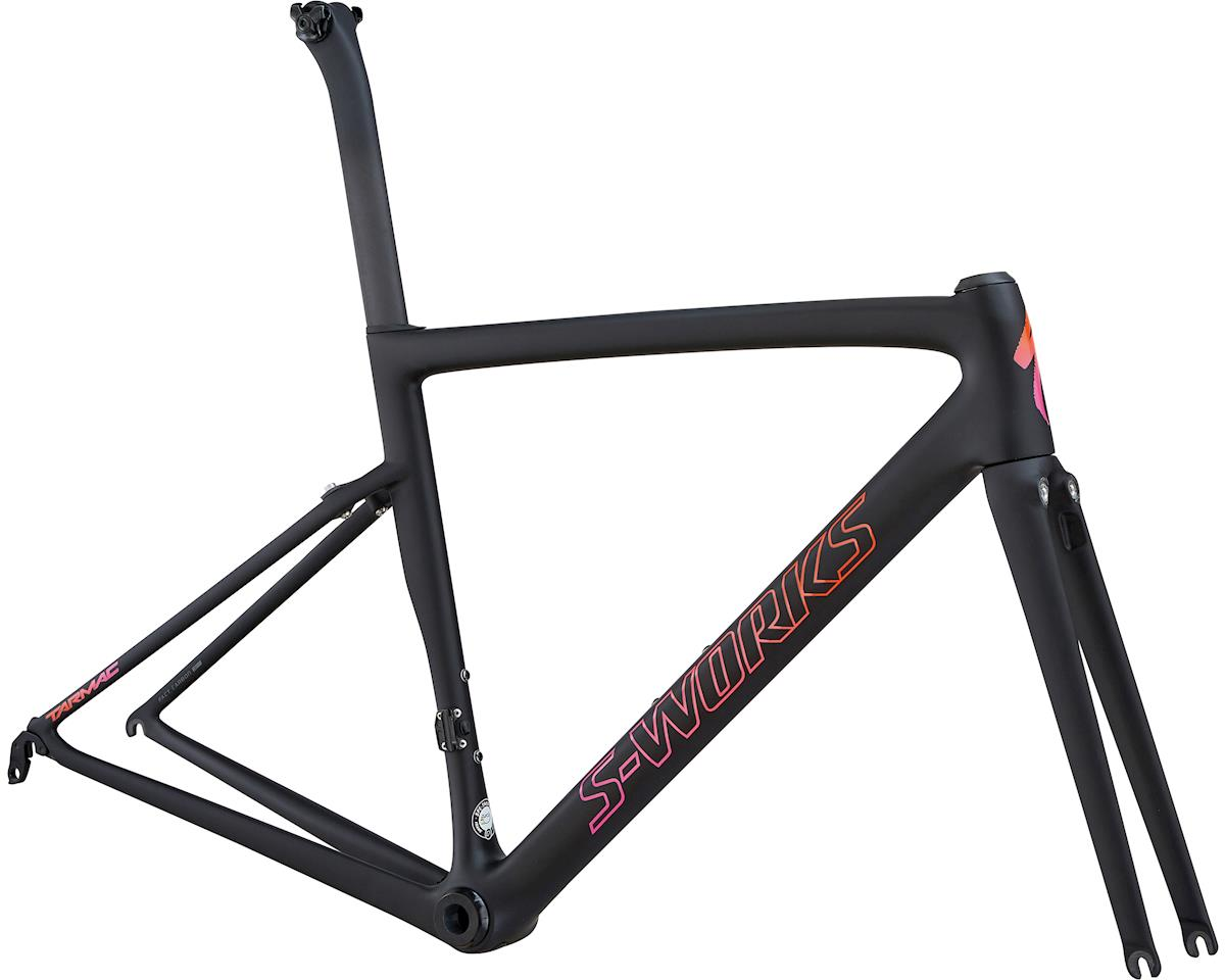 Specialized 2018 Women's S-Works Tarmac Frameset (Satin/Gloss/MonoBlk/Acid Purple Rkt Red Fade)
