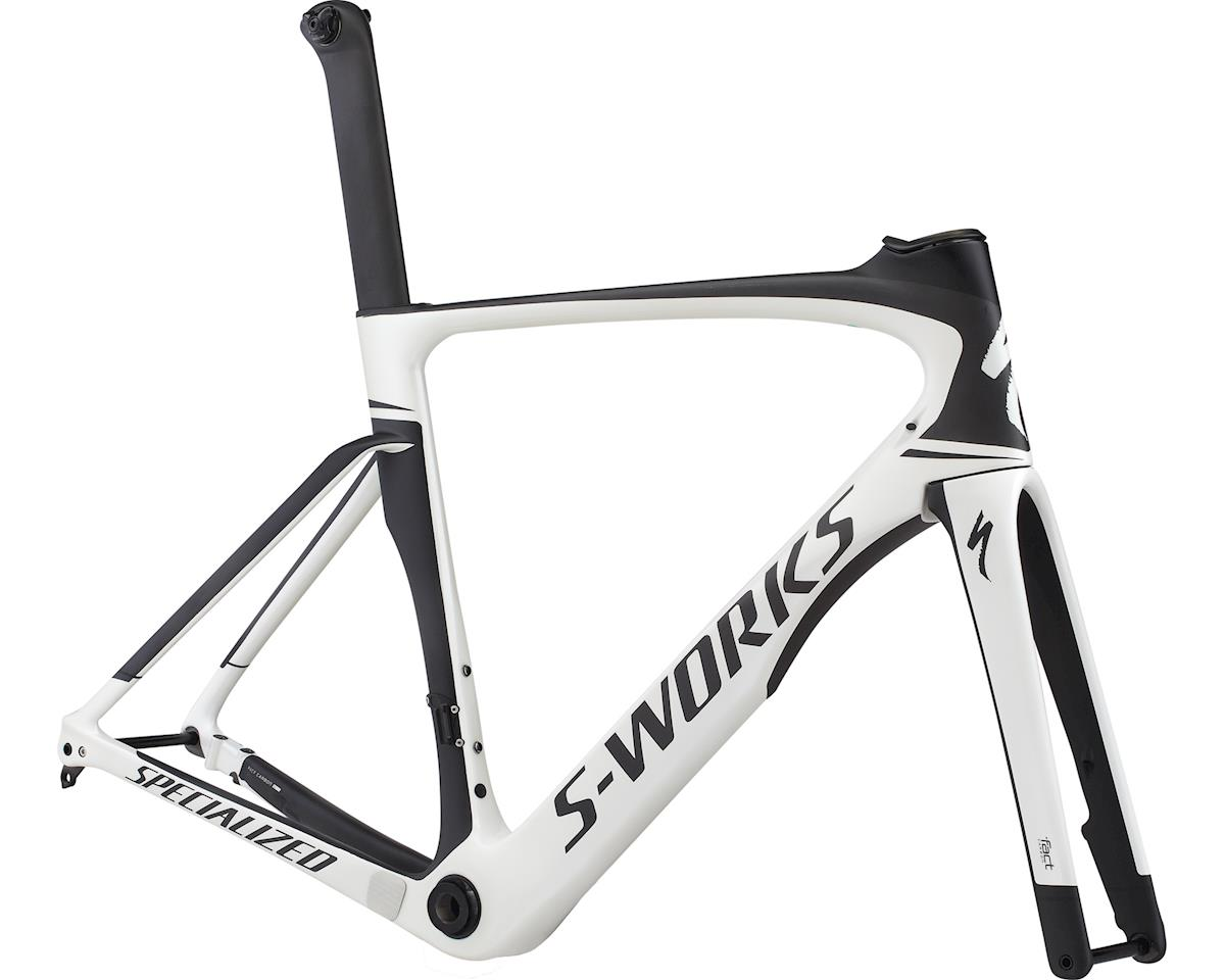 Specialized 2017 S-Works Venge ViAS Disc Frameset (Gloss Metallic White/ Satin Carbon/ Black) (46)