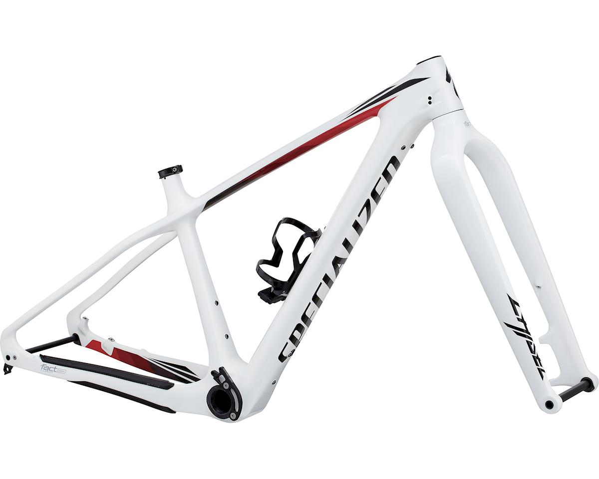 Specialized 2017 Fatboy Carbon Frameset (Gloss White/Black/Red Fade) (S)