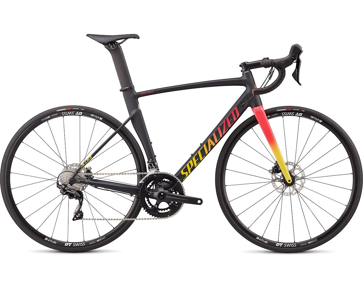 Specialized 2020 Allez Sprint Comp Disc (Satin/Gloss Black/Yellow-Pink Fade) (49)