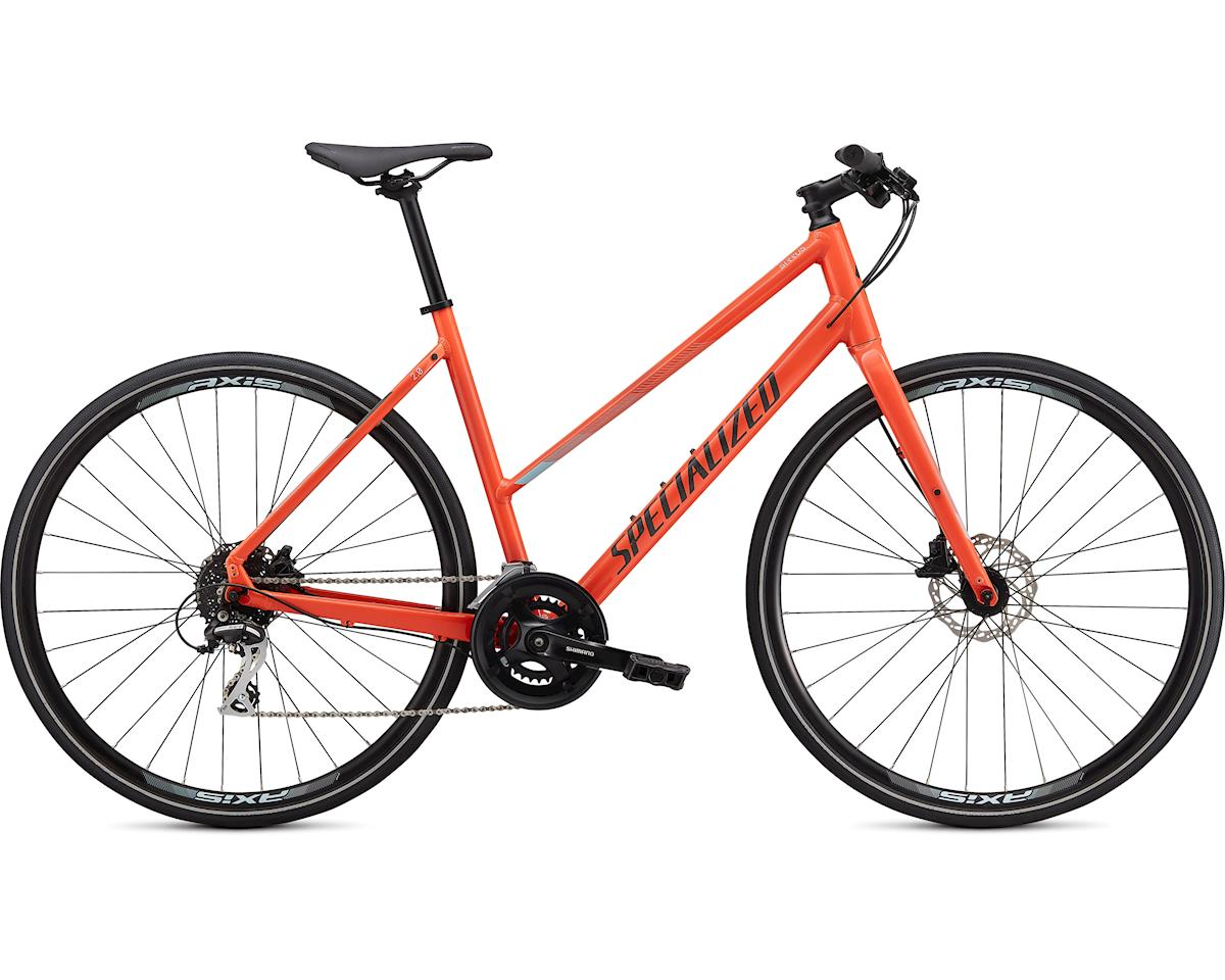 Specialized Sirrus 2.0 Step Through (Gloss Vivid Coral/Summer Blue/Satin Black Reflective) (XS)