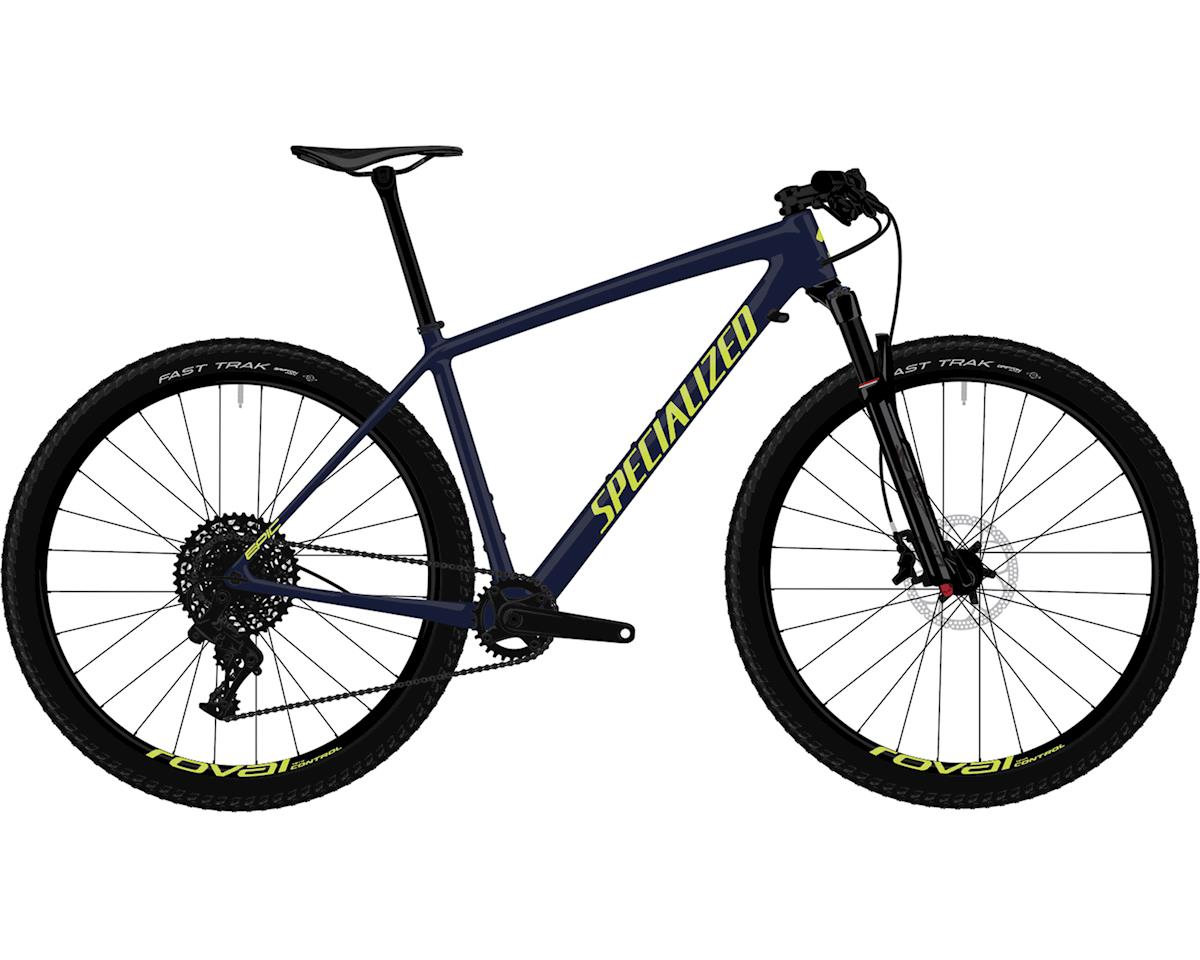Specialized 2019 Men's Epic Hardtail Comp (Gloss Blue Tint Carbon/Ion)