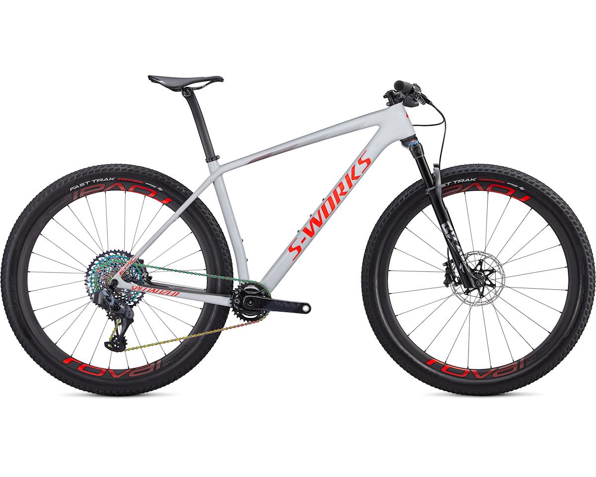 Specialized 2020 S-Works Epic Hardtail AXS (Gloss Dove Grey/Rocket Red/Crimson)