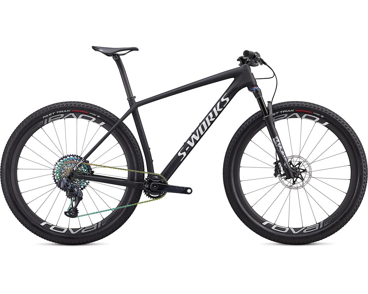 Specialized 2020 S-Works Epic Hardtail AXS (Satin Ultralight Black/Metallic White Silver)