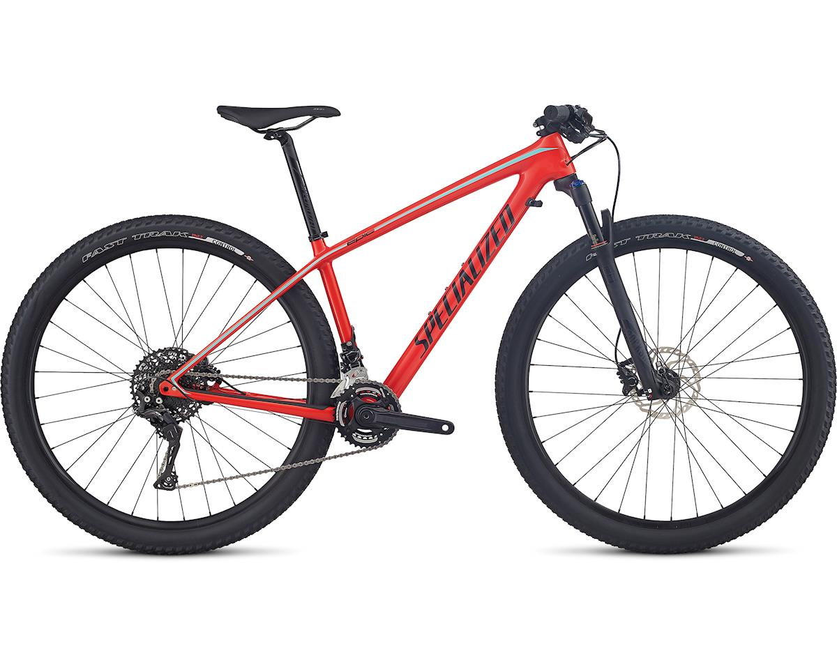 Specialized 2017 Women's Epic HT Comp Carbon (Gloss Nordic Red/Tarmac Black/Light Turquoise) (S)