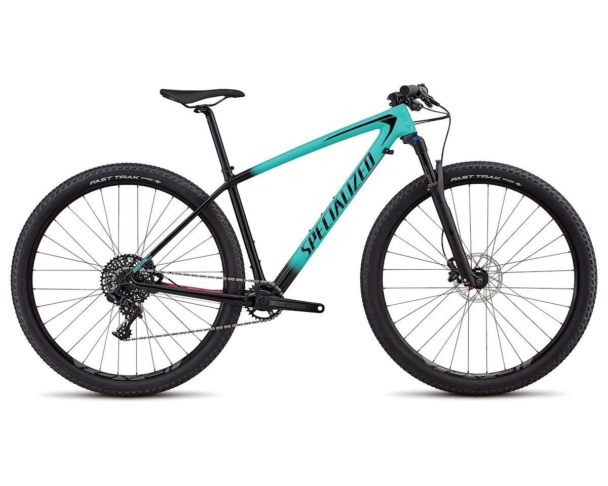 Specialized 2018 Women's Epic Hardtail Comp Carbon (Gloss Acid Mint Fade To Tarmac Black / Acid Pink)
