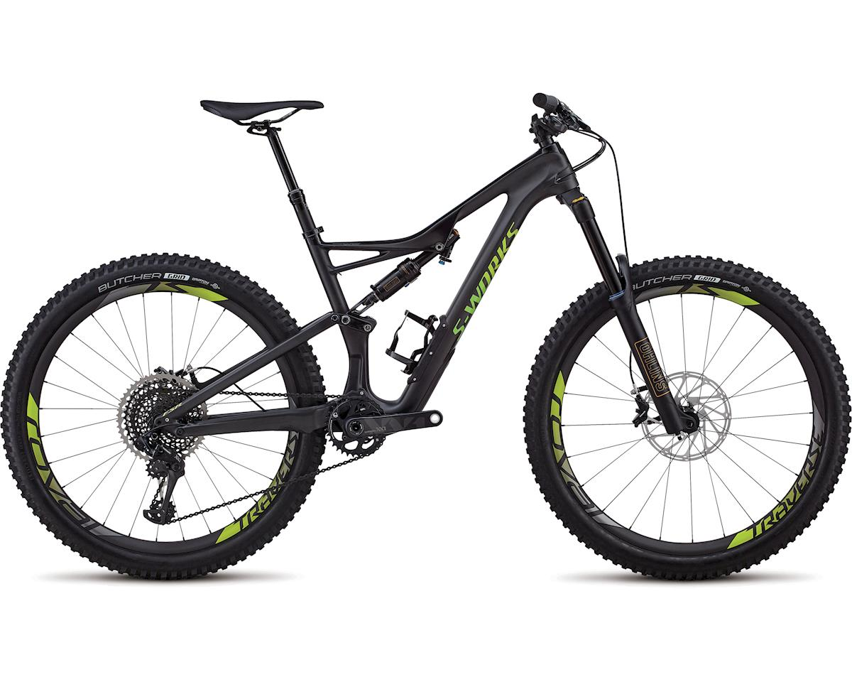 Specialized 2018 S-Works Stumpjumper 27.5 (SATIN GLOSS CARBON / HYPER GREEN)