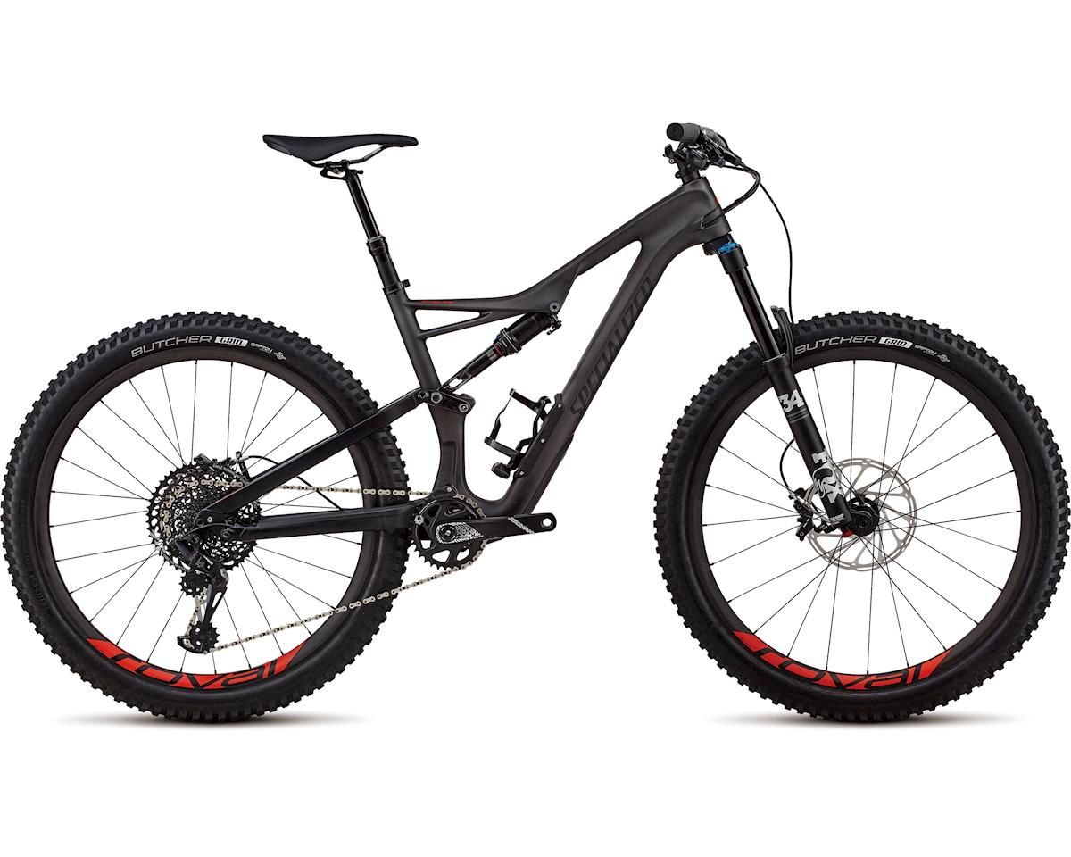 Specialized 2018 Stumpjumper Expert 27.5 (SATIN SILVER TINT CARBON / BLACK / ROCKET RED CLEAN)