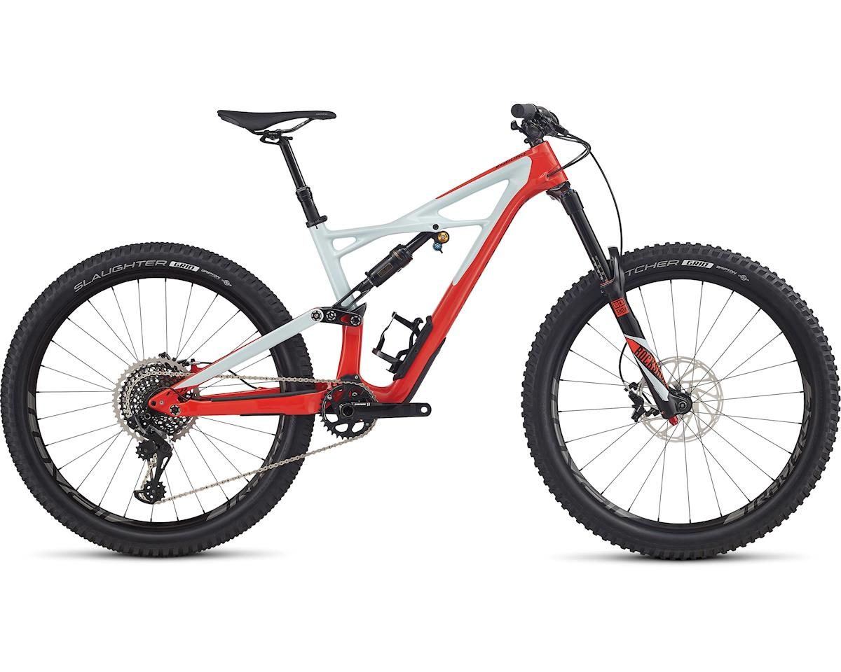 Specialized 2017 Enduro Pro Carbon 650b (GLOSS ROCKET RED/BABY BLUE/BLACK) (M)