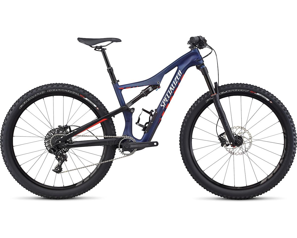 Specialized 2017 Women's Camber Comp Carbon 650b (Satin Nibali Blue/Nordic Red/Flake Silver) (XS)