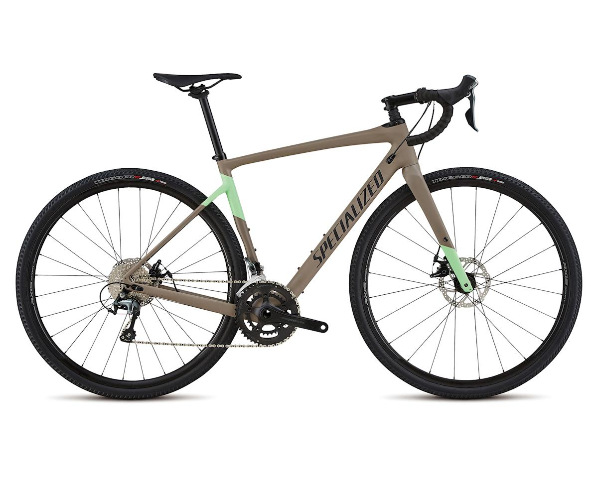 Specialized 2018 Women's Diverge Sport (Satin Taupe Acid Kiwi Black)