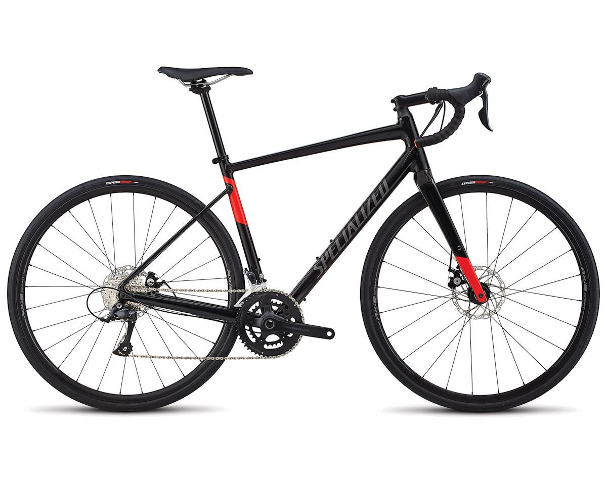 Specialized 2018 Men's Diverge E5 Sport (Gloss Tarmac Black/Charcioal/Rocket Red)