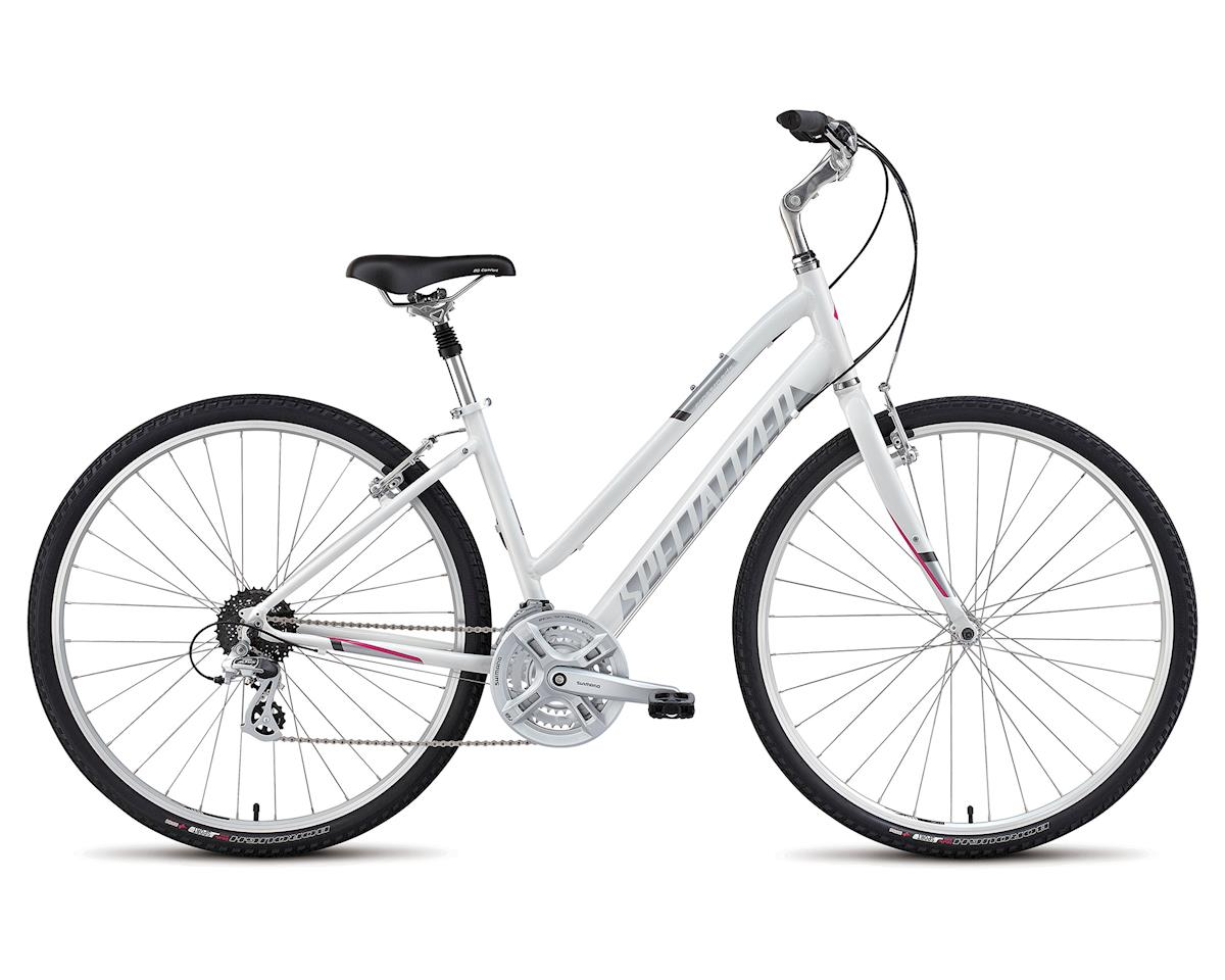 Specialized 2018 Crossroads Sport Step Through (Gloss White / Silver / Bright Pink)