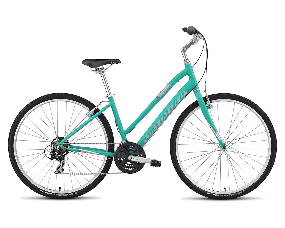 Specialized 2018 Crossroads Step Through (Satin Emerald Green / Silver / White)