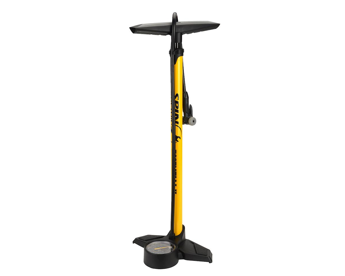 "Spin Doctor Essential II Floor Pump (Yellow/Black) (3"" Gauge) (Dual Head)"