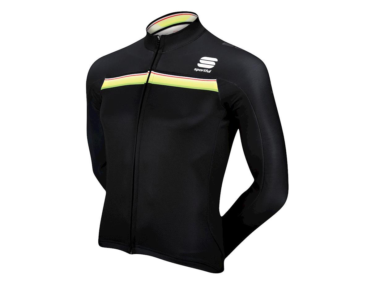 993e2f8c8 Sportful Bodyfit Pro Thermal Long Sleeve Jersey (Black   Green)  11 ...