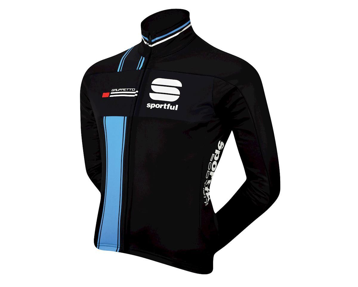 Sportful Gruppetto Partial Windstopper Jacket (Blue/Black)
