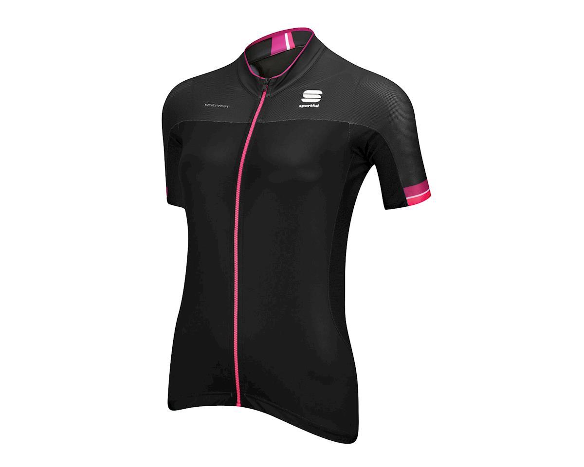 Sportful Women's BodyFit Pro Short Sleeve Jersey (Black/Pink)