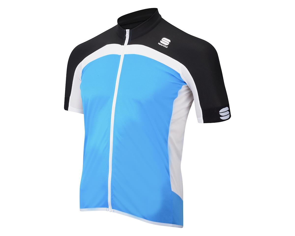 Sportful Pista Long Zip Short Sleeve Jersey (White/Red/Black)
