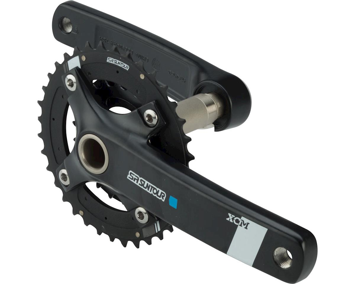XCM-AX Crankset: 10-speed, 36/22t, 175mm, Hollowtech II, Black