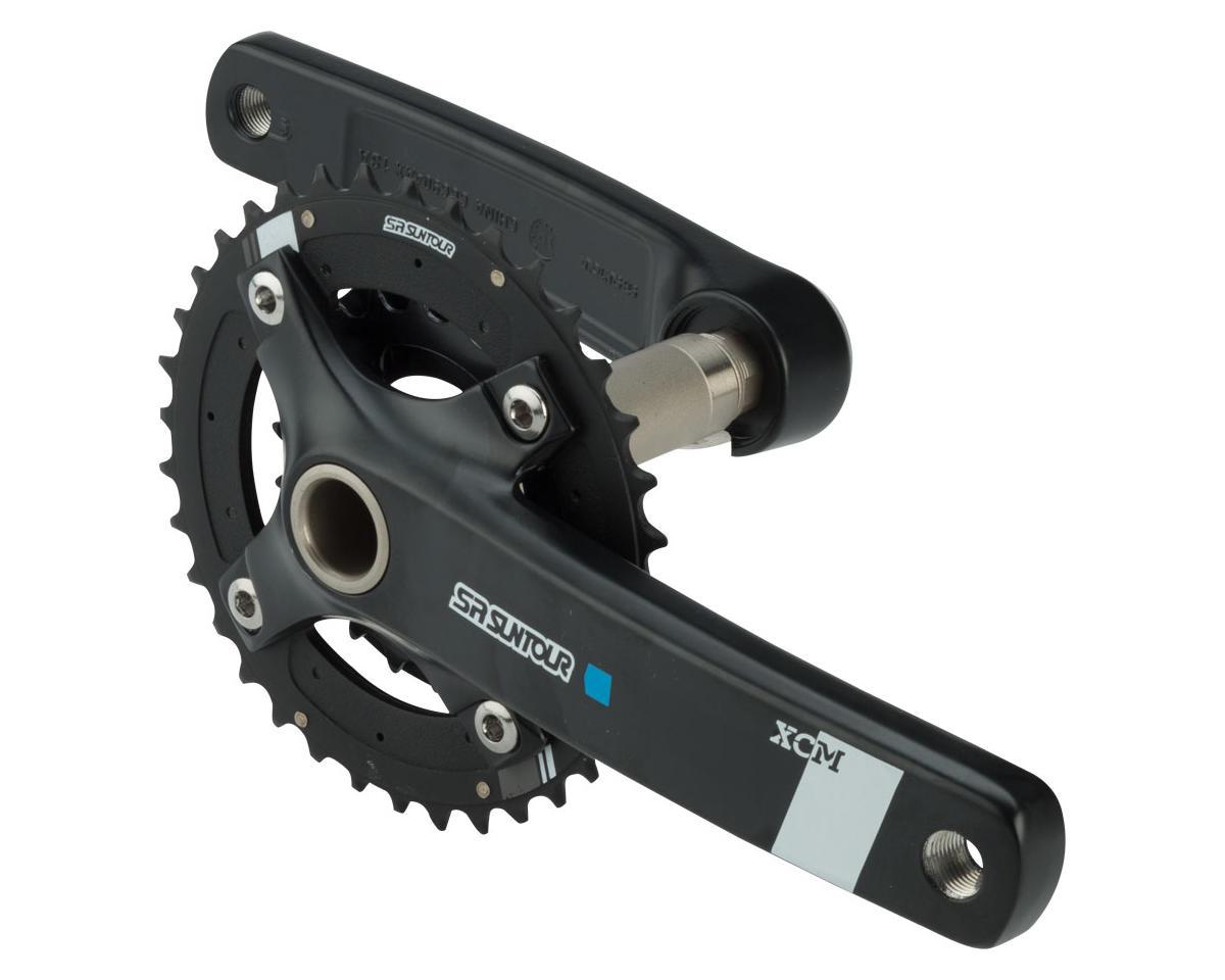 Sr Suntour XCM-AX Crankset: 10-speed, 36/22t, 175mm, Hollowtech II, Black