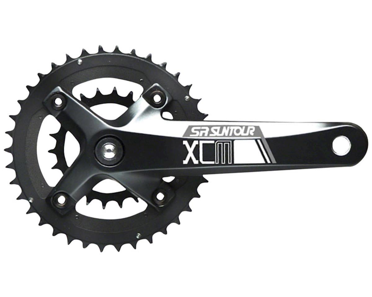 Sr Suntour XCM-D Crankset: 10-speed 36/22t, 175mm Octalink, Black