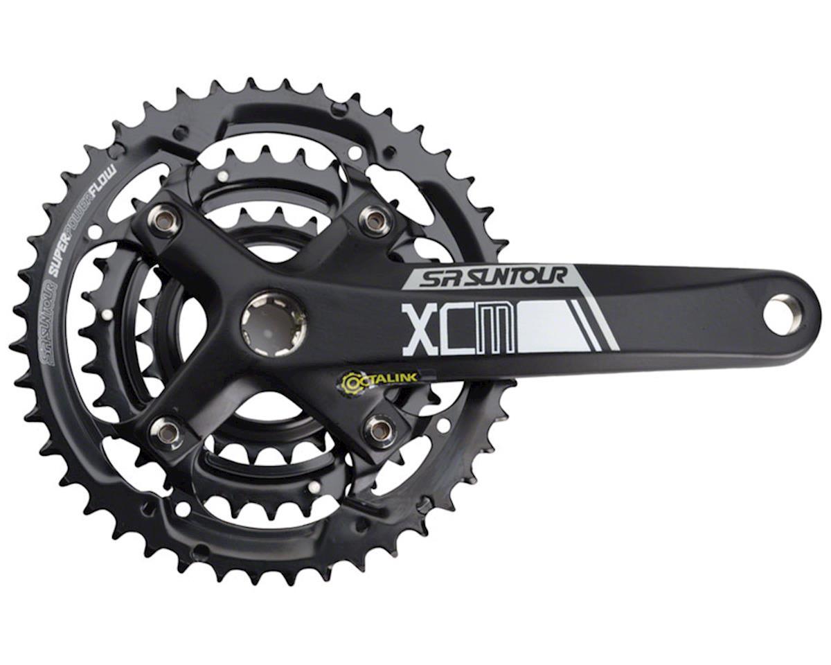 Sr Suntour XCM-T Crankset: 9-speed, 44/32/22t, 175mm, Octalink, Black