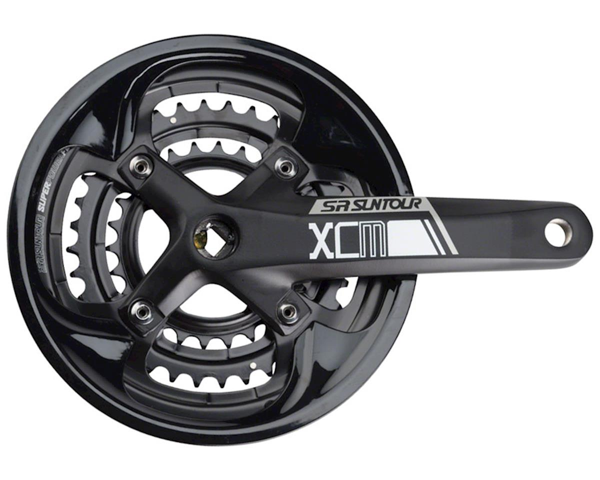 XCM-T Crankset: 9-speed, 48/36/26t, 170mm, Square Taper, Black