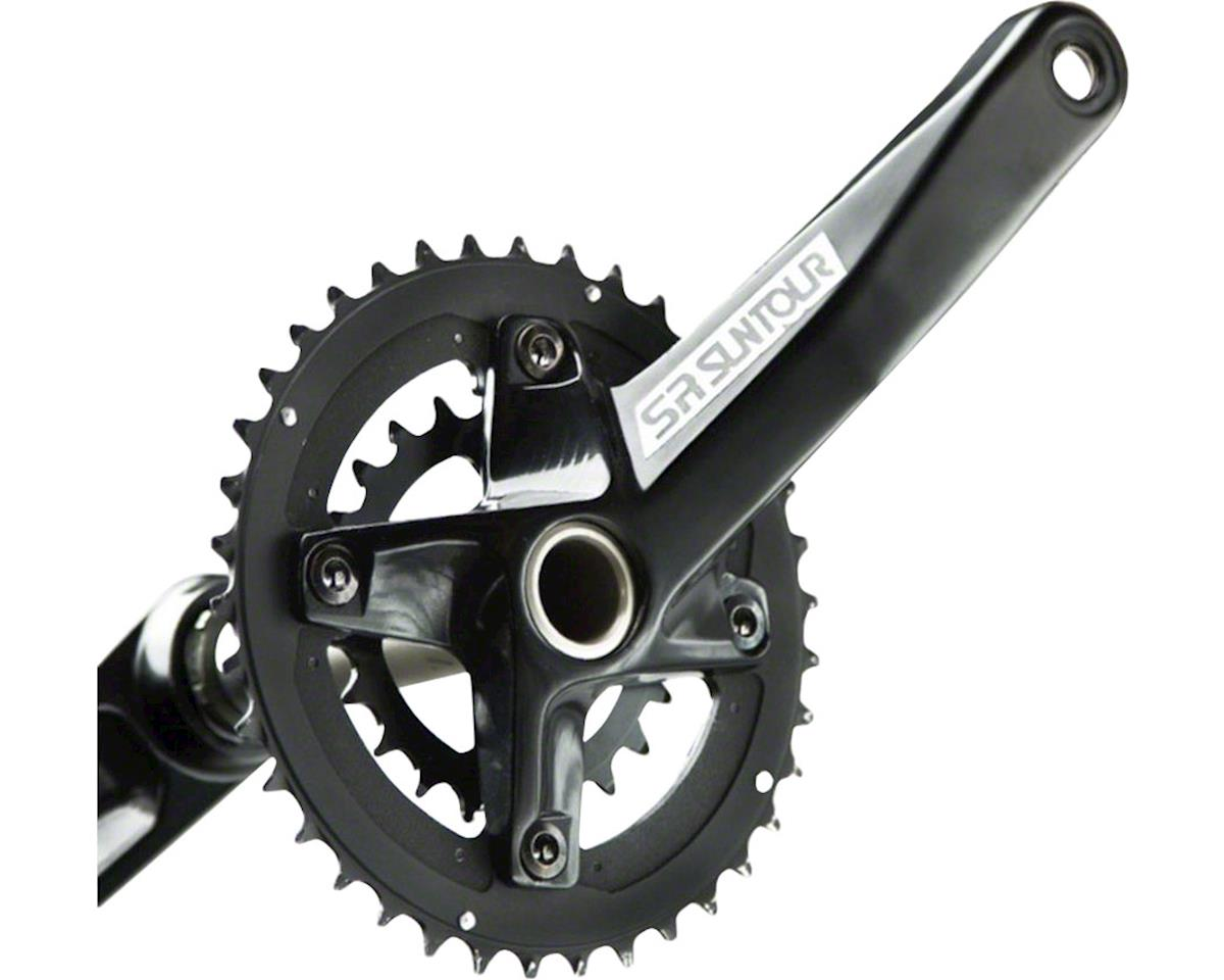 XCR-D Crankset: 10-speed, 36/22t, 175mm, Hollowtech II, Black