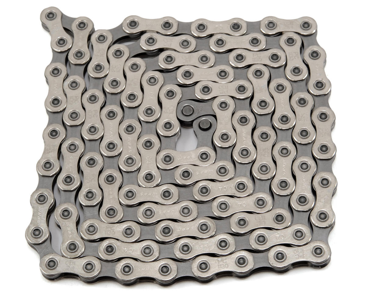 Silver SRAM PC-RED22 11Speed 114 Links Road Bike Chain with PowerLink