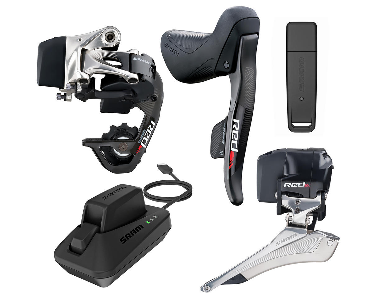 Red eTAP Wireless Road Groupset with Drop Bar Shifters