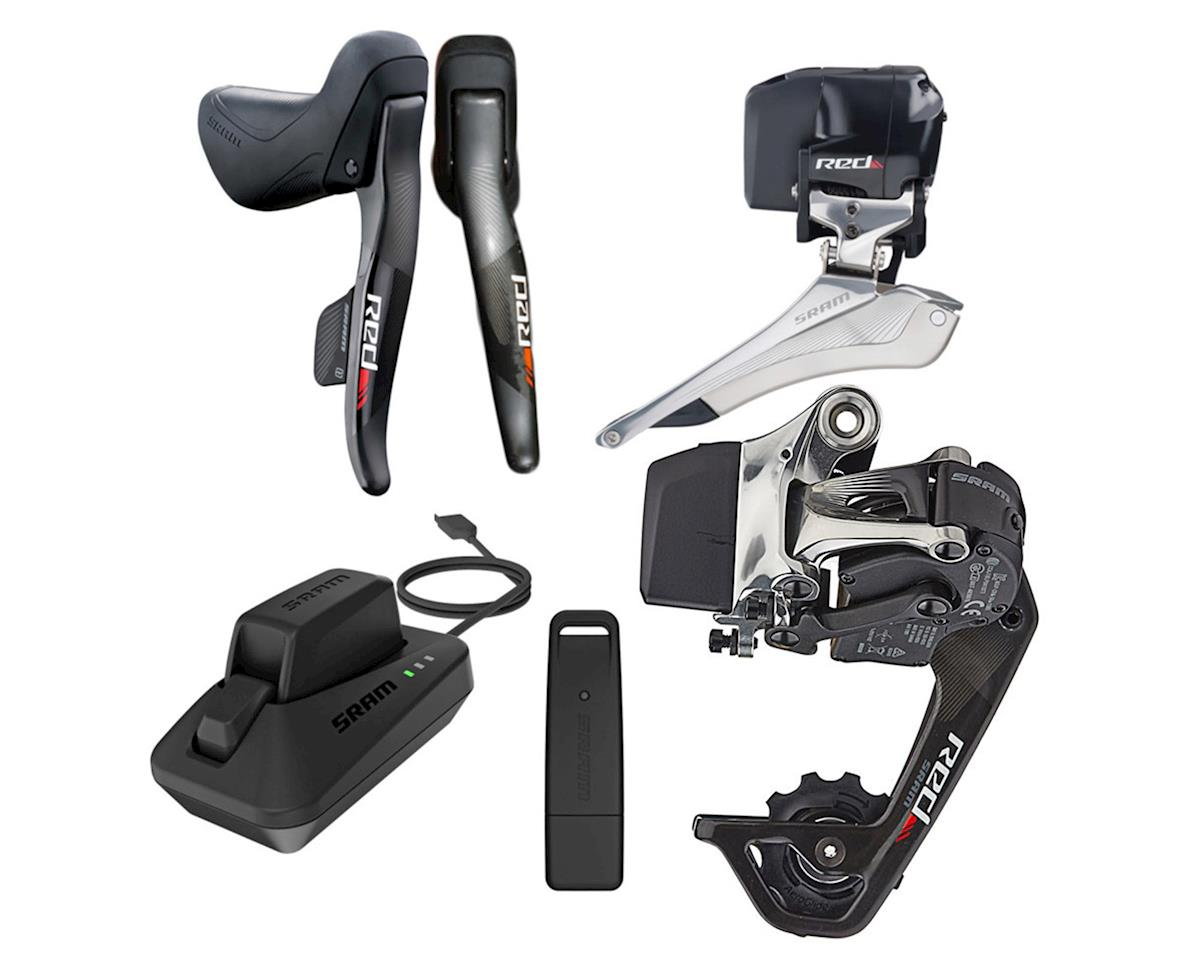 Red eTAP WiFli Wireless Road Groupset with Drop Bar Shifters (32 Tooth)