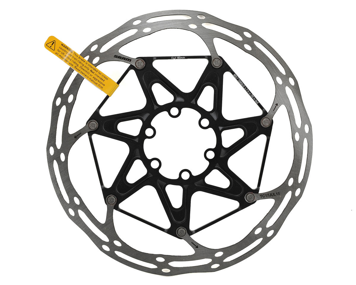 SRAM Centerline X 2-Piece Disc Brake Rotor (Black) (6 Bolt) (180mm)
