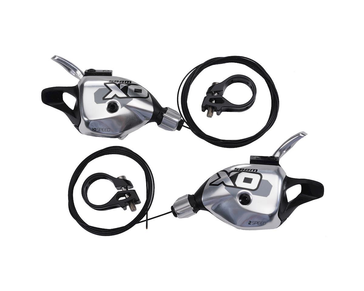 SRAM X0 2x10-Speed ZeroLoss Trigger Shifters (Silver)