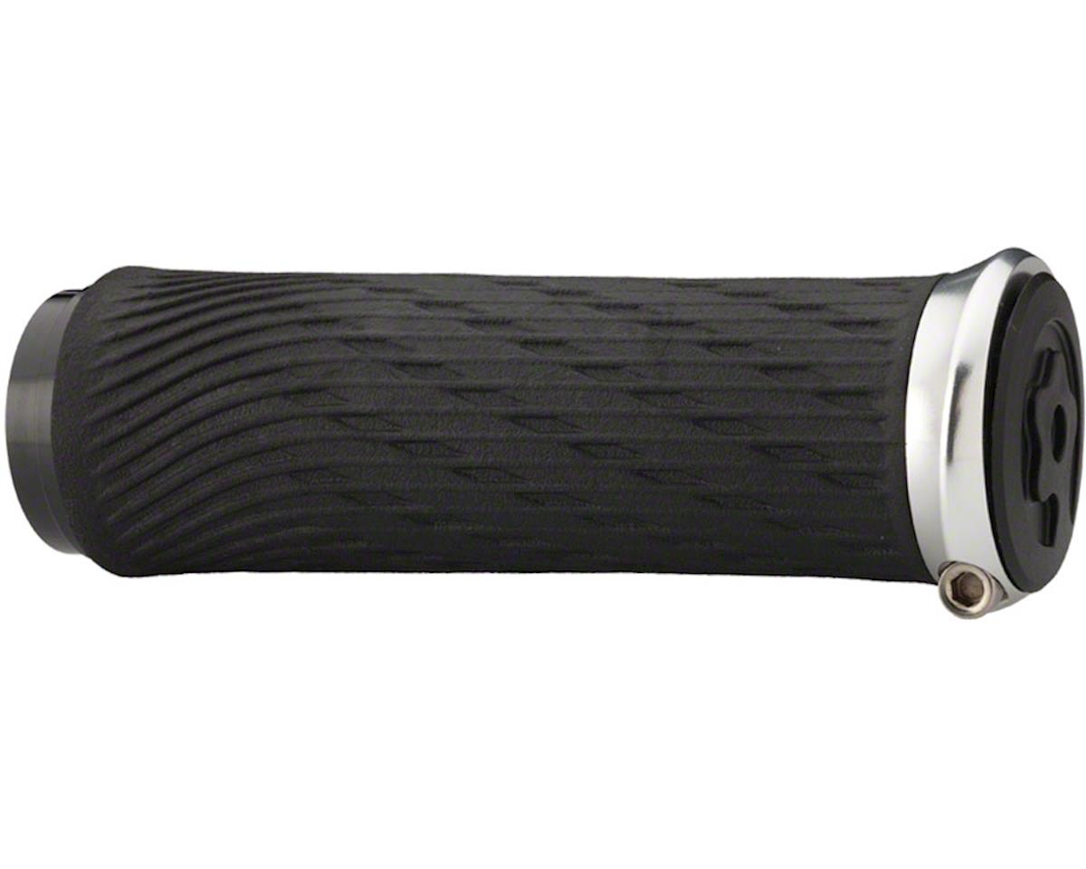 SRAM Jaws hift Grips - Black/Silver, Lock-On