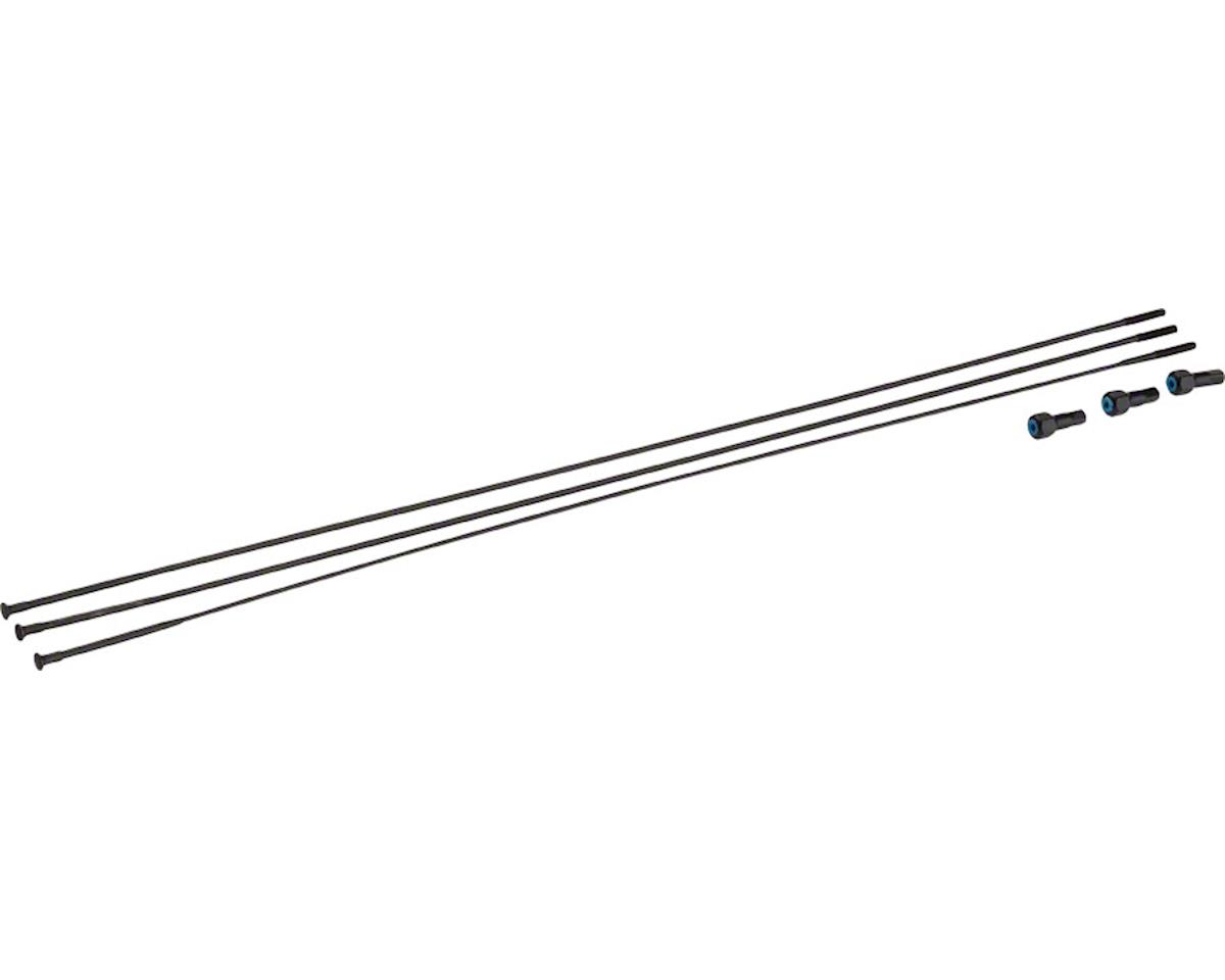 SRAM Spokes/Nipples 3-pack 300mm Bladed Straight-Pull External Black, Roam 50, 2