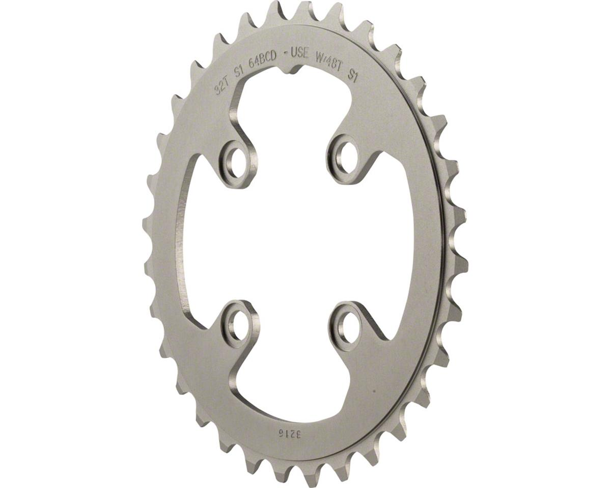SRAM 32 Tooth 64mm BCD Aluminum Chainring, Gray, Use With 48T