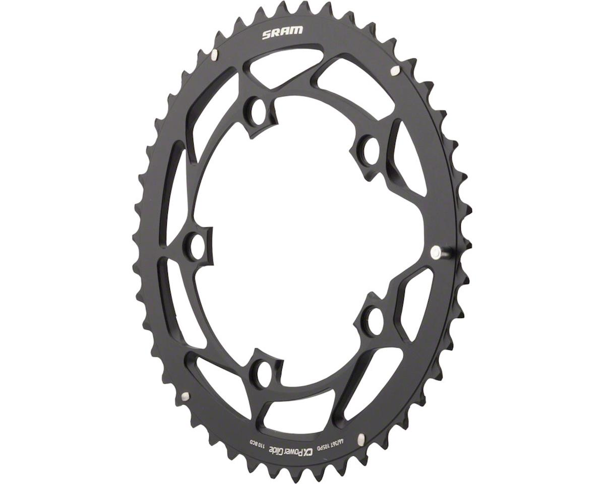 SRAM 46T 110mm 10-Speed Chainring for GXP Black, Long Chain Retention Pin, Use W