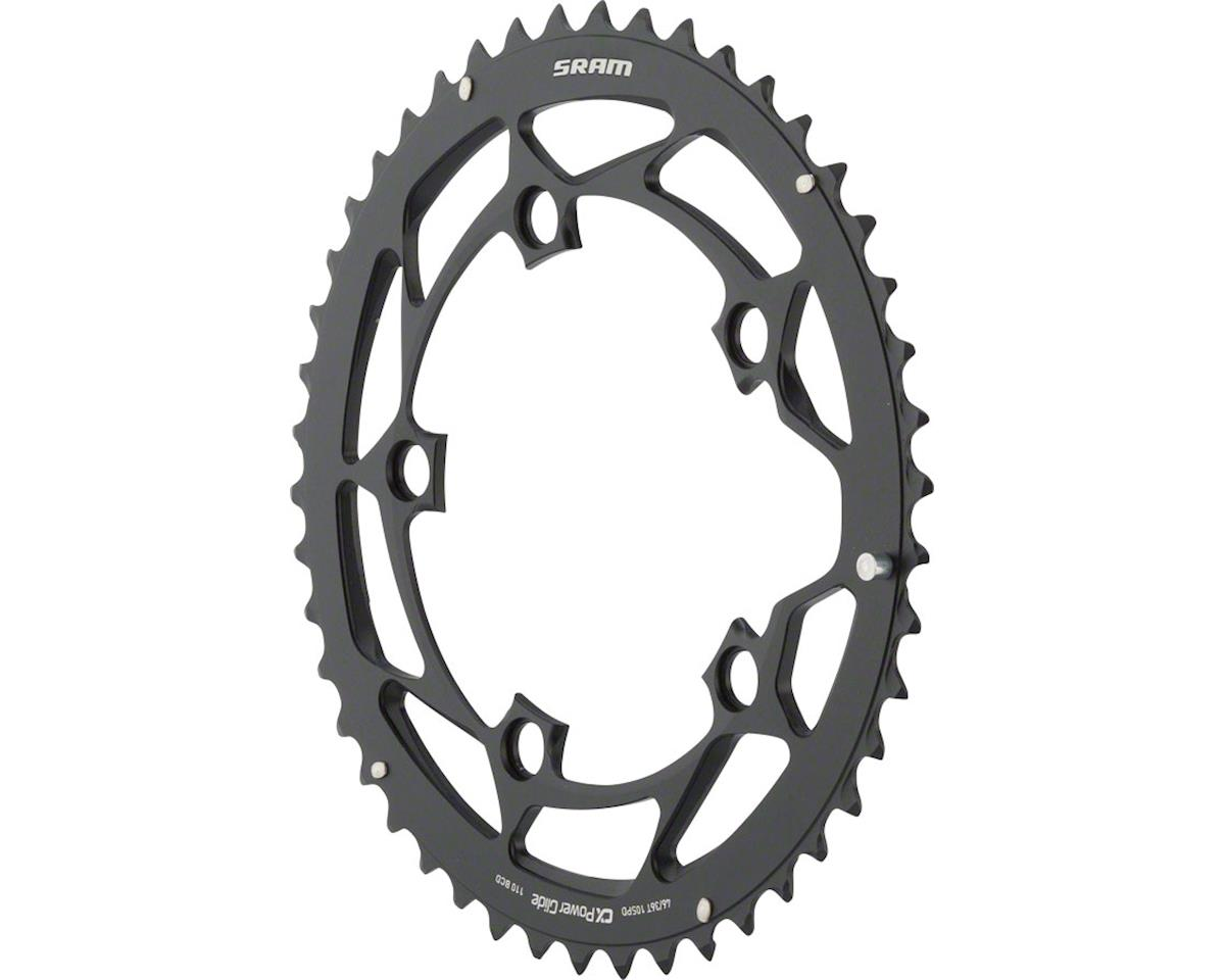 SRAM 46T 110mm 10-Speed Chainring for BB30 Black, Short Chain Retention Pin, Use