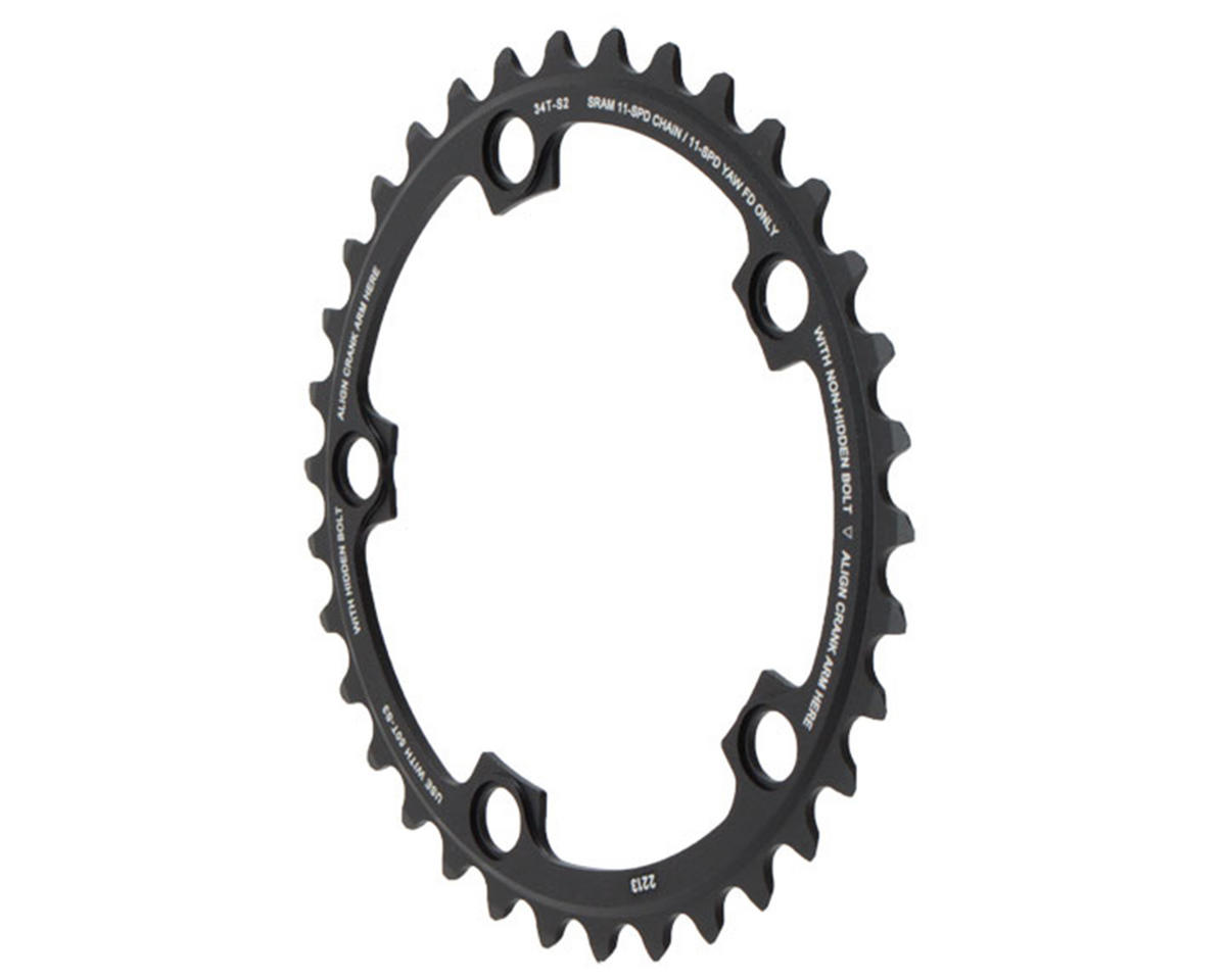 SRAM 11-Speed 110mm Inner 5 Bolt Chainring (Black) (34T)