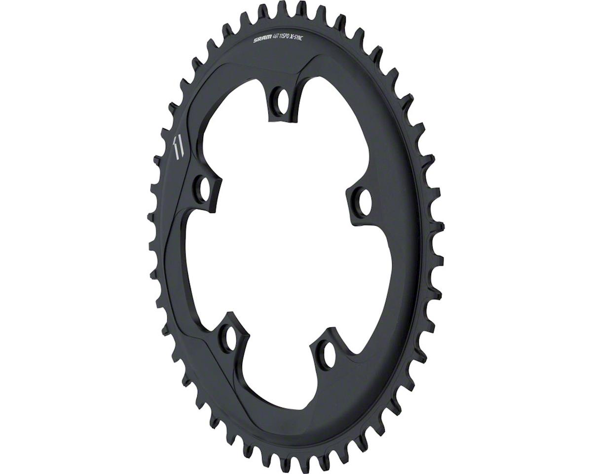 SRAM X-Sync Chainring 46T 110mm BCD Black BB30 or GXP BB30 or GXP, Includes Bolt